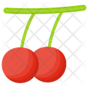 Holly Berry Cherries Red Berries Icon