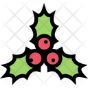 Holly Christmas Holidays Icon