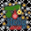 Holly Jolly Holly Jolly Logo Holly Jolly Badge Icon