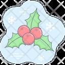 Christmas Holiday Holly Tree Icon