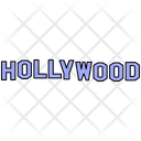 Hollywood Sign Movie Icon