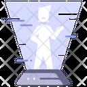 Hologram Technology People Icon