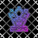 Hologram Virtual Visual Icon