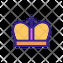 Crown Coins Contour Icon