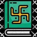 Holy Scriptures Book Sanskrit Icon