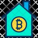 Bitcoin Home Bitcoin House House Icon