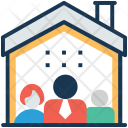 Family Home Standing Icon