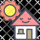 Home House Sun Icon