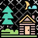 Home House Tree Icon