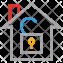Home Lock Open Icon