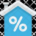 Home Percentage Sign Icon