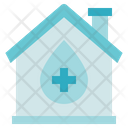 Blood Donation Medical Home Icon