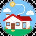Solar Energy Home Solar Icon