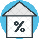 Home Percentage Sign Icon