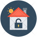 Home Lock Sign Icon