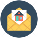 Home In Envelope Icon