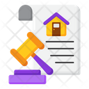 Home Auction Real Estate Law Auction Money Icon