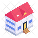 Mansion Bungalow Home Building Icon