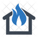 Fire Flame Home Insurance Icon