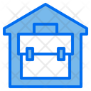 House Briefcase Stay At Home Icon