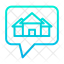 Chatting For House Communication Conversation For House Icon