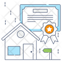 Home Certificate House Certificate Property Certificate Icon