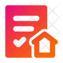 Home Certificate Property Certificate House Certificate Icon