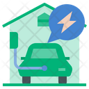 Home Charging Station Charging Ev Icon