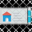 Home Cheque Mortgage Cheque Loan Icon