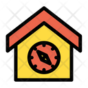 Home Compass House Icon
