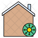 Corona Stayhome Safety Icon
