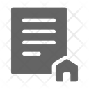 Contract Certificate House Icon