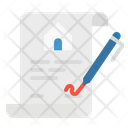 Contract Paper Document Icon