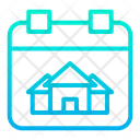 House Done Date Calendar Schedule Icon