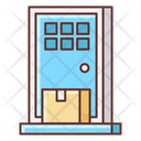 Delivery On Doorstep Home Delivery Door To Delivery Icon