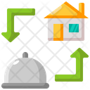 Delivery Food Home Icon