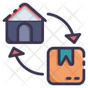 Home Shipping Delivery Icon