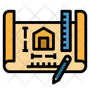 Home Wide House Icon
