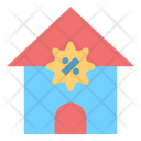 Discount Percent House Icon