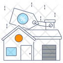 Home Discount Building Discount Property Discount Icon