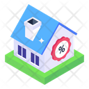 Mansion Discount Bungalow Discount Home Discount Icon