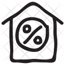 Discount Sale House Icon