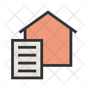 Document Paperwork Home Icon