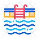 Pool Ladder Water Icon