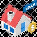 Home Equity Loan Mortgage Loan House Loan Icon