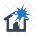Explosion Home Insurance House Icon