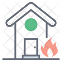 House Fire Home Fire Building Fire Icon
