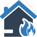 Home fire explosion Icon