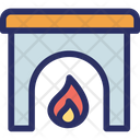 Home Fireplace Burning Fire Fireplace Icon