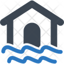 Home Flood Disaster Icon